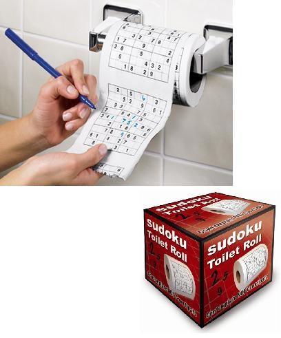 Papel higiénico con Sudoku