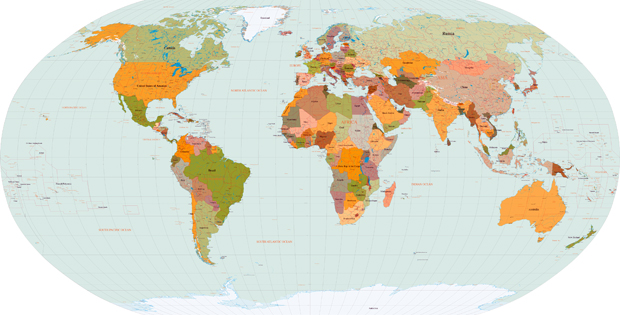 Mapa Mundi Vectorial EPS
