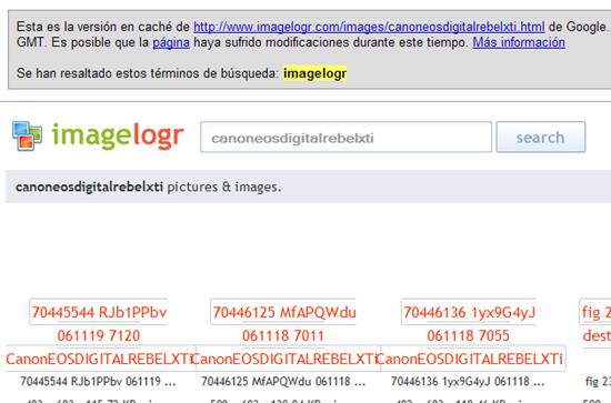 Captura tomada de la caché de Google.