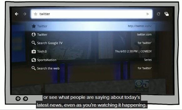 Twitter en Google TV