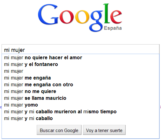 """Buscando a """"mi mujer"""" en Google"""