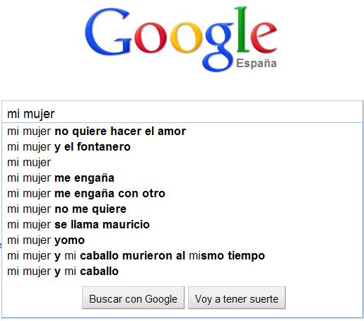 "google busca ""mi mujer"""