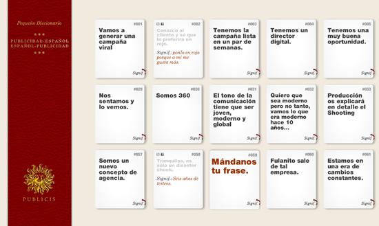 Pequeño diccionario Publicidad Español