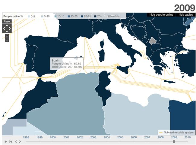 mapamundi intercativo de Internet