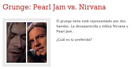 Pearl Jam vs. Nirvana
