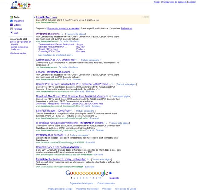 Google no funciona