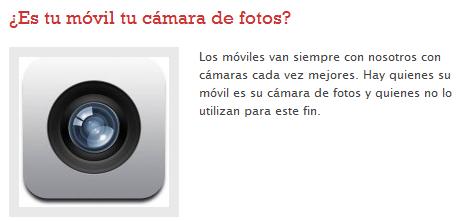 ¿Es tu móvil tu cámara de fotos?