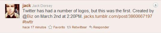 El 1º logo de Twitter ceslava 1