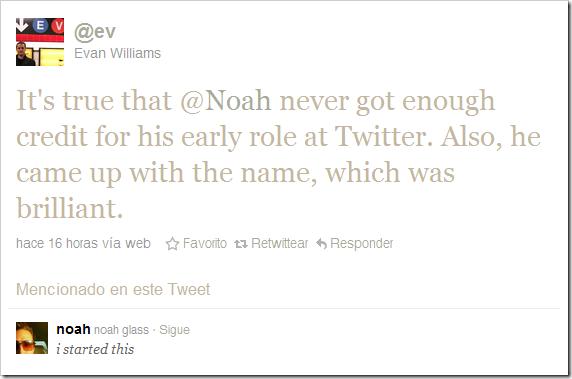 Evan Williams reconoce la labor de Noah Glass
