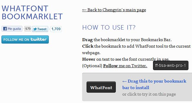 whatfont bookmarklet