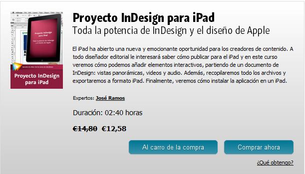 Proyecto InDesign para iPad