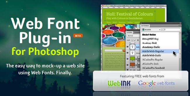 Web Font Plug-in para Photoshop® CS5+