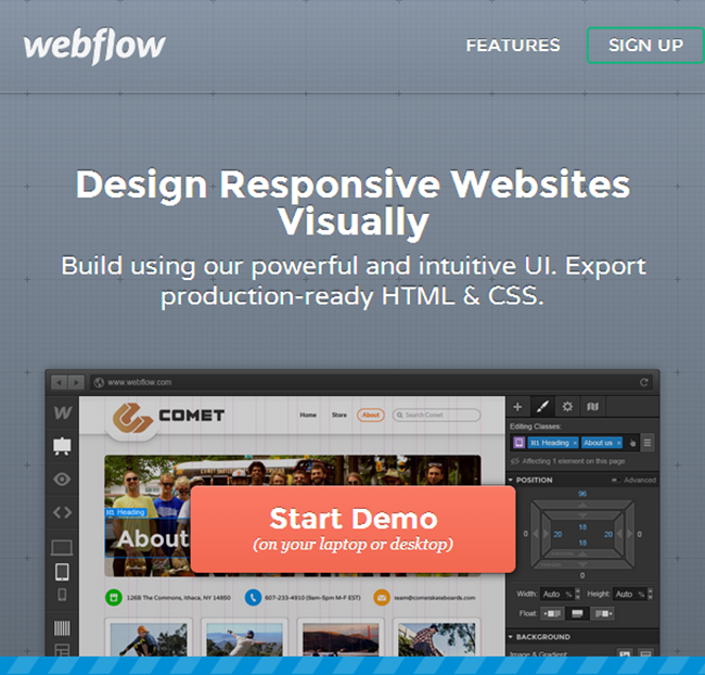 Webflow - Design Responsive Websites Visually