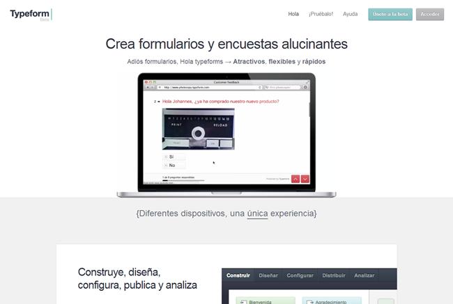 Typeform   Formularios html y encuestas online de nueva generación