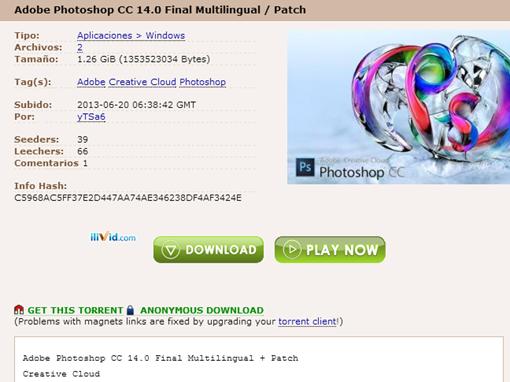 Adobe Photoshop CC 14.0 Final Multilingual   Patch  download torrent    TPB