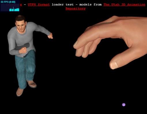 three.js webgl   io   UTF8 loader