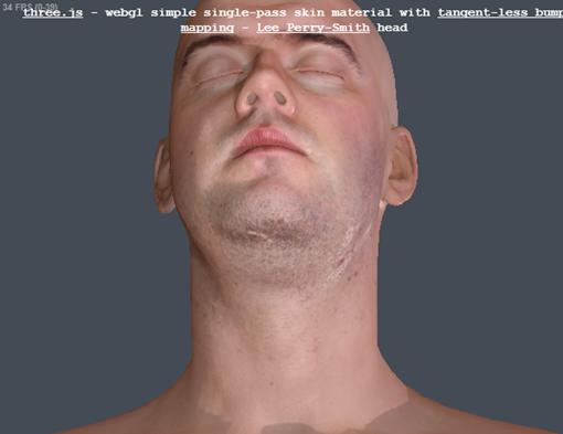 three.js webgl   materials   bump map   skin  Lee Perry Smith