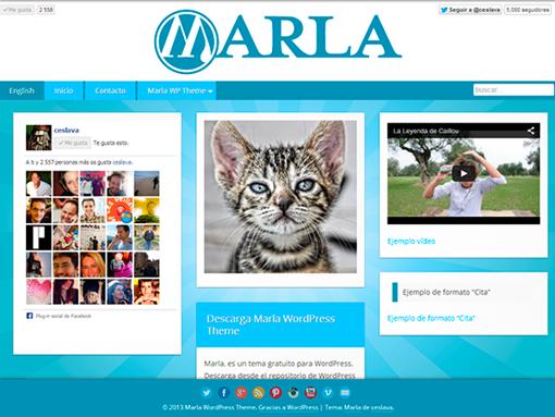 Marla WordPress Theme