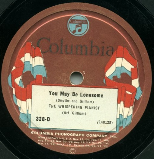 First_Electrical_Recording_You_May_Be_Lonesome_Columbia_Flag_Label