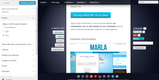Personalizar Marla — WordPress
