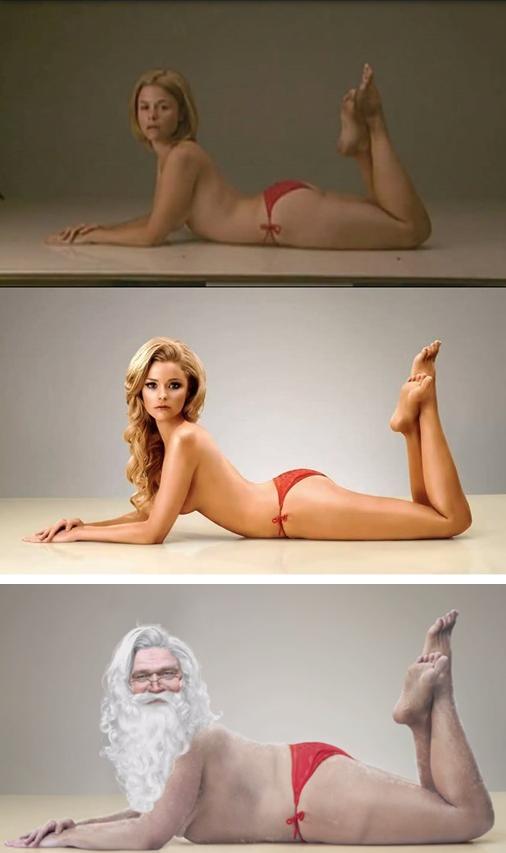 Réplica irónica y navideña al retoque extremo con Photoshop   ceslava