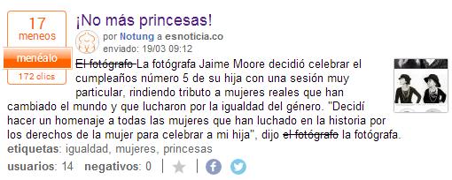 ¡No más princesas