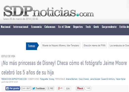 ¡No más princesas de Disney  Checa cómo el fotógrafo Jaime Moore celebró los 5 años de su hija   SDP Noticias