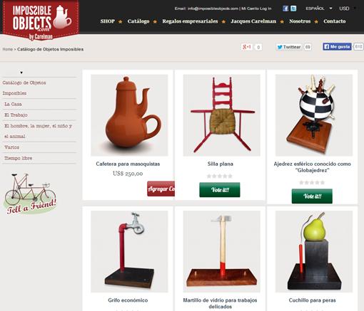 Catálogo de Objetos Imposibles online   Catalogue of Impossible Objects by Jaques Carelman