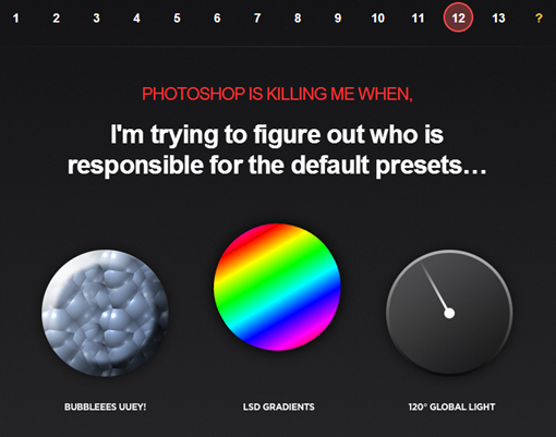 PhotoshopKiller — A list of most hated Photoshop features and bugs.