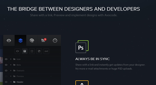 Avocode – Preview and inspect PSDs