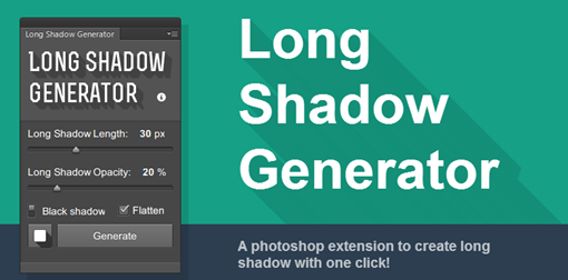 Long Shadow Generator for Photoshop A PS extension to create long shadow with one click