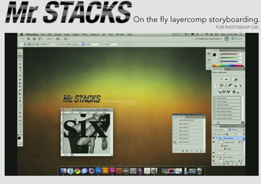 Mr. Stacks. On the fly layercomp storyboarding.