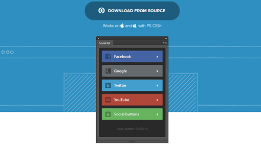 Social Kit Free Photoshop plugin with social templates