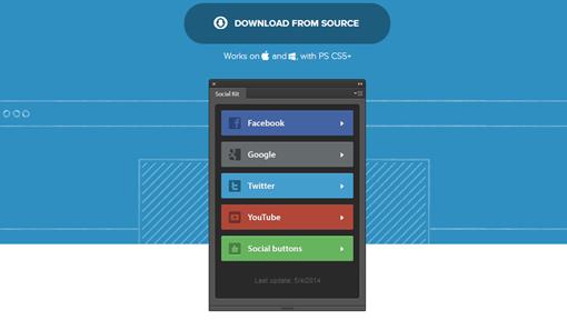 Social Kit Free Photoshop plugin with social templates