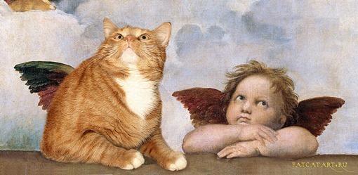 Raphael-Sistine_Madonna_Group_of_Angels-cat-w