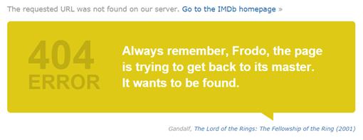 404 Error-El señor de los anillos La comunidad del anillo