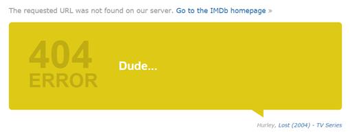 404 Error-IMDB-perdidos