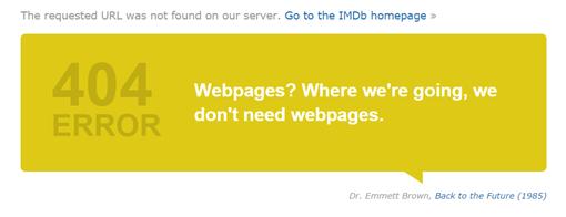 404 Error-Regreso al futuro