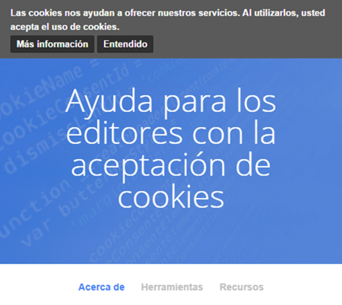 Opciones de cookies de Google