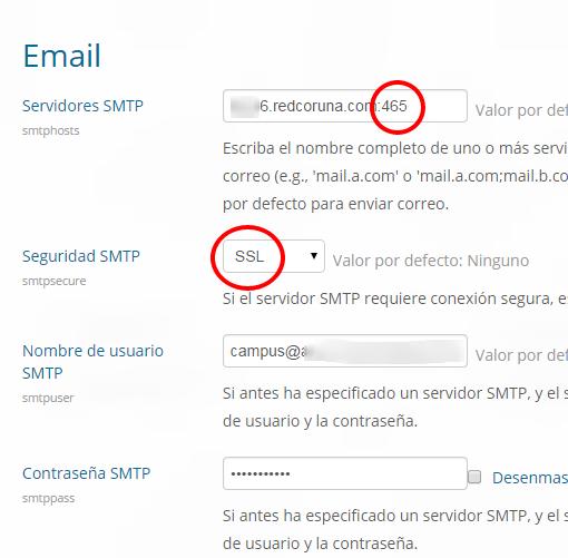 Administración  Extensiones  Mensajes de salida  Email