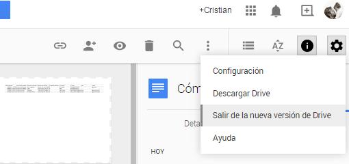 Reciente   Google Drive-salir