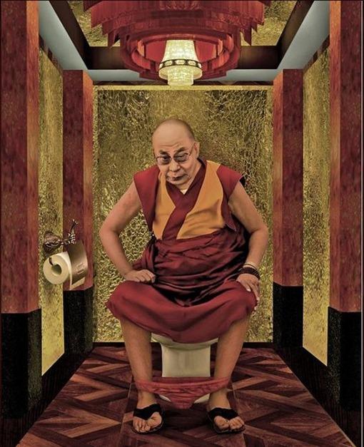 Dalai-Lama-fotomontaje-trono
