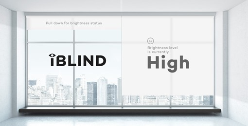 The iBlind updates in realtime to detect the level of brightness when in use