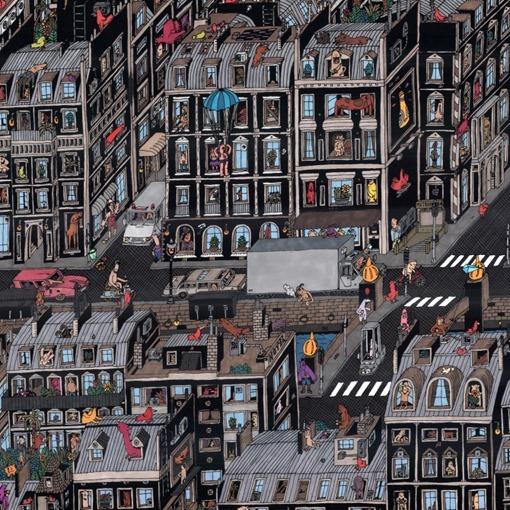 Parisian-Neighbourhood-Guillaume Cornet o Mr Guil ilustracion