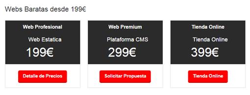 Web Baratas  Diseño Paginas Web Baratas desde 199€   Webyseo.es