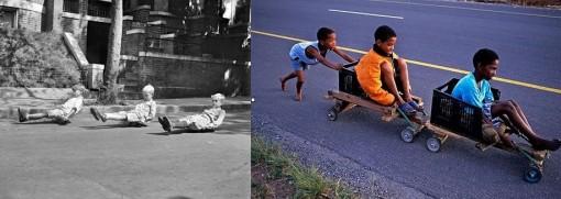 niños jugando antes y ahora sudáfrica