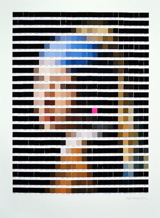 nick-smith-Pantone-arte-pixelado-Johannes Vermeer - La joven de la perla