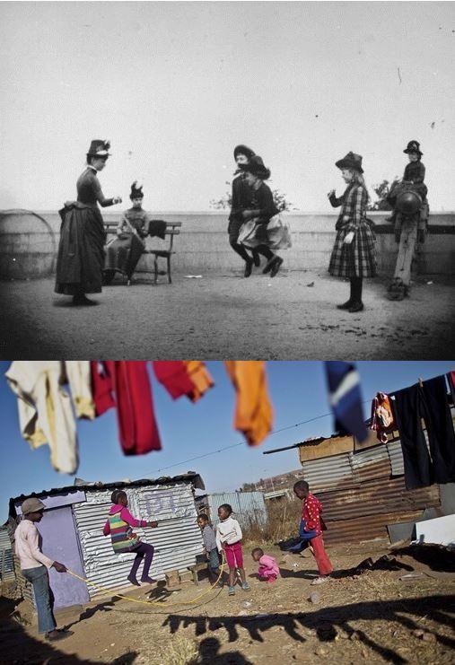 nisño jugando comba 1886 y ahora sudáfrica