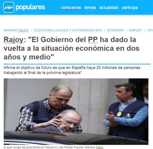 Rajoy   El Gobierno del PP ha dado la vuelta a la situación económica en dos años y medio    populares