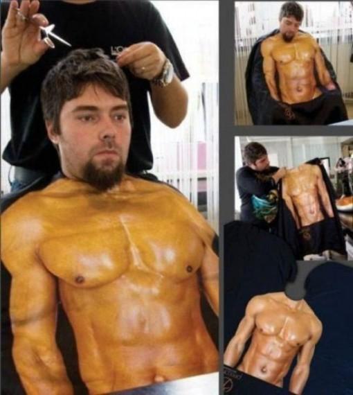 delantal peluqueria